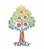 Family hand tree Concept illustration