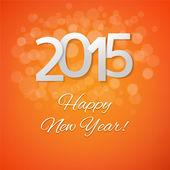 Orange Neujahrskarte