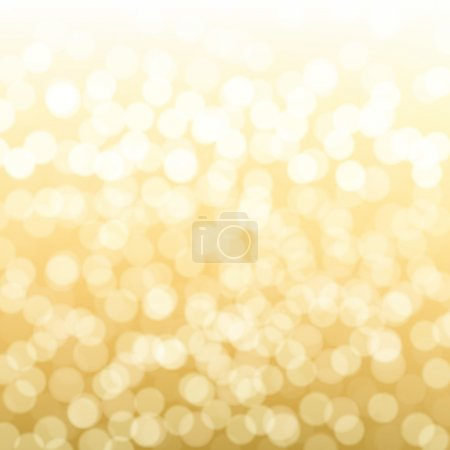 Illustration for Blurred Gold Background With Gradient Mesh, Vector Illustration - Royalty Free Image