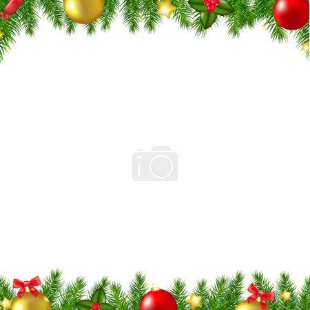 Christmas Fir Tree Borders Card