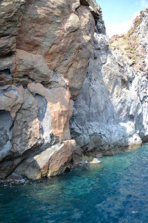 Photo pour Côte de la belle île du volcan - Sicile - image libre de droit