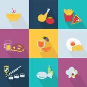 Set of food icons - web 20 style