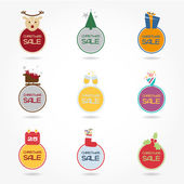 Allegre colorful icons for Christmas discounts