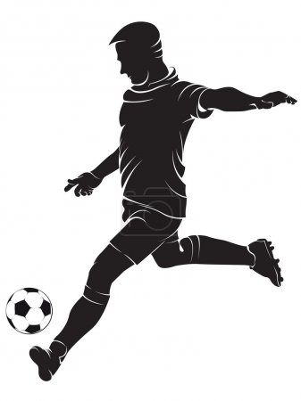 Football (soccer) player with ball