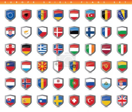 Photo for This is a simple, clean and unique set of vectorized Europe countries flags. Full editable and resizable. Good for several projects. - Royalty Free Image