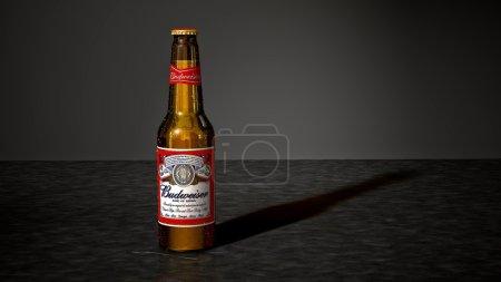 MONTREAL, CANADA - JULY 9, 2015: Budweiser beer bo...