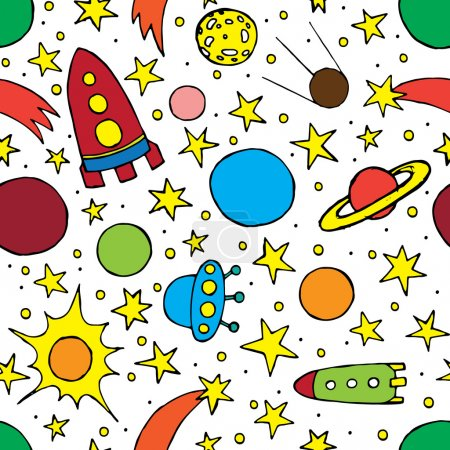 Seamless pattern with children's space