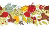 Autumnal seamless background
