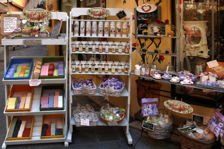 GRASSE, FRANCE - JULY 5: Homemade multi colored soap and another