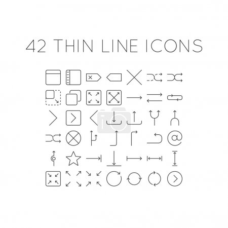Arrows Thin Line Icons