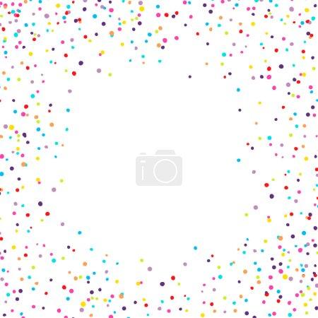 Illustration pour Fond vectoriel avec confettis minuscules morceaux ronds sur les côtés - image libre de droit