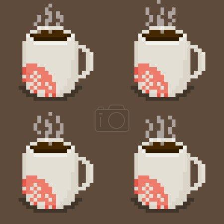 Pixel art mug sprite sheet