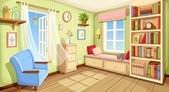 Cozy room interior Vector illustration