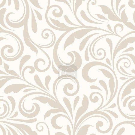 Illustration pour Vecteur vintage motif floral beige sans couture . - image libre de droit