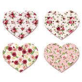 Valentine's day hearts with roses patterns Vector eps-10