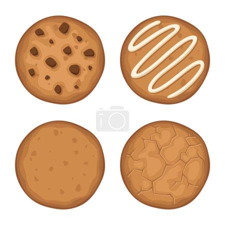Set of cookies. Vector illustration.