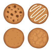 Set of cookies Vector illustration