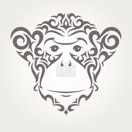 Vector illustration of monkey, symbol of  New Year 2016