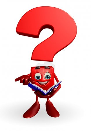 Question Mark character with Book