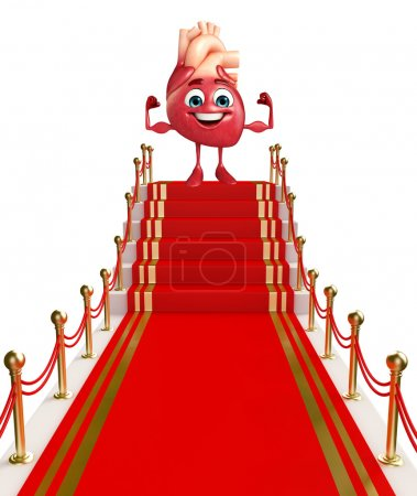Heart character with red carpet