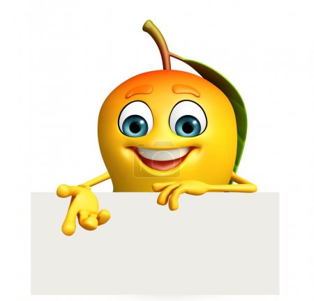 Photo for 3d rendered illustration of mango cartoon character - Royalty Free Image