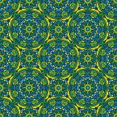 Négyzet háttér - Díszítő varrat nélküli mintát, zöld, kék