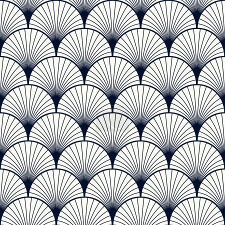 Seamless vintage pattern of overlapping shells in ...