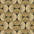 Seamless vintage pattern of gold overlapping arcs ...