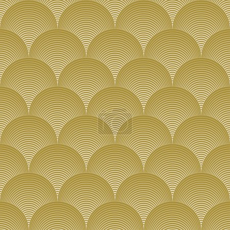 Gold colored wave pattern. can by tiled seamlessly...