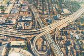 "Постер, картина, фотообои ""Аэрофотоснимок развязки в Лос-Анджелесе"""