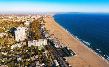 Santa Monica beach from above