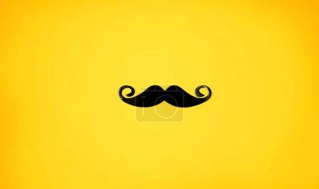 Black paper mustache