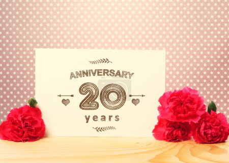 20 years anniversary card