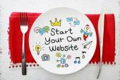 Start Your Own Business Konzept auf Platte