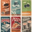 Vintage collection of food and restaurants posters...