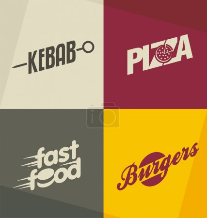 Fast food logo design concepts