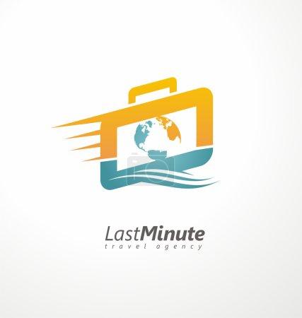 Creative logo design concept for travel agency