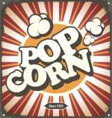 Popcorn vintage poster concept