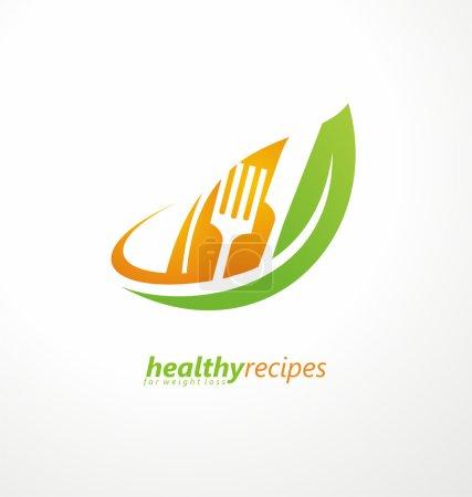 Creative logo design concept for healthy food.
