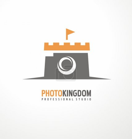 Creative design concept for photography studio