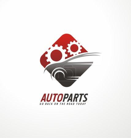 Auto parts logo design concept
