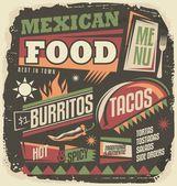 """Постер, картина, фотообои """"Концепция дизайна фанки меню мексиканский ресторан"""""""