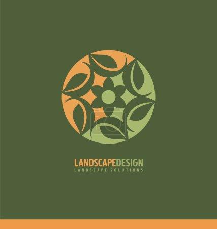 Landscaping symbol design concept