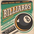 Постер, плакат: Retro poster design for billiards tournament