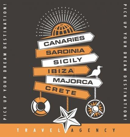 Travel agency promotion banner design