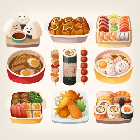 Japanese food stickers.