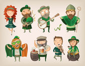 Set of irish characters