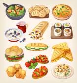 Vegetarian street food and restaraunt dishes