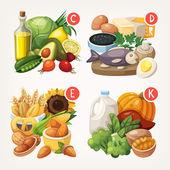 Produkty bohaté na vitamíny