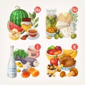 """Постер, картина, фотообои """"Продукты богатые витаминами и минералами"""""""